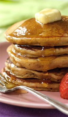 Sweet Potato Pancakes from Chef James Brockman turn the #1 most nutritious vegetable into a healthy breakfast treat for the whole family. Pair with maple syrup and a cup of hot Chai. #brunch #recipes