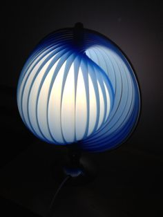 RESERVED FOR SANDRA stunning Verner Panton moon lamp rre plastic table top design retro lighting on Etsy, $366.53