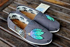 Pink baby blue and lime green Dream Catcher TOMS by BStreetShoes, $129.00....size 8 1/2 please?