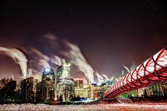 Photographer focuses on Calgary's Peace Bridge - Calgary - CBC News Police Detective, Fallout, Calgary, Serenity, Cool Pictures, Cities, Spicy, Art Photography, Bridge