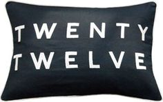 Twenty Twelve Cushion, Embroidered