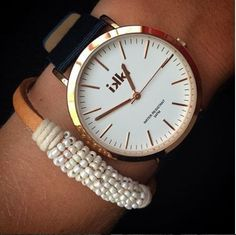 ikki horloge, zwart, goud, black, watch, ikki style, fashion