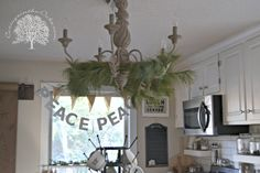 cottage kitchen for Christmas