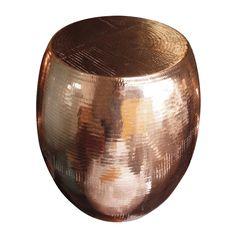 Beaten Copper Pod Stool - hardtofind.
