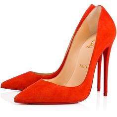 So Kate 120 Bisou Suede - Women Shoes - Christian Louboutin ($675) ❤ liked on Polyvore featuring shoes, pumps, suede shoes, stilettos shoes, stiletto pumps, pointed toe stilettos and pointy-toe pumps