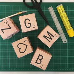 How about some 3D scrabble? Soon on my store! Printable ABC letter blocks in five different styles. Pitoti - print & creat ❤️
