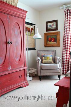 Mid Summer Farmhouse Style Guest Room
