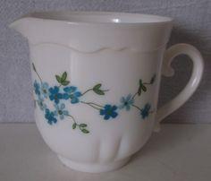 Vintage Arcopal Veronica Milk Glass Creamer