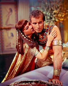 Charlton Heston and Anne Baxter in The Ten Commandments