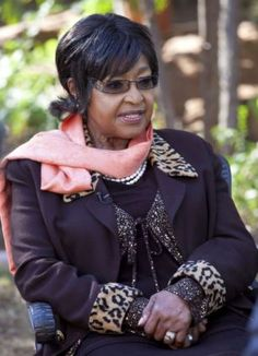 Devoted: Winnie Mandela (pictured during her exclusive interview) has been by her ex-husband's bedside since he was hospitalized four weeks ago