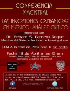 Conferencia Magistral (Entrada Libre(