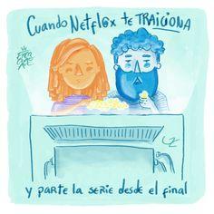 Encachaoart illustration/ graphic humor/ @encachaoart /Ilustracion/ humor grafico/netflix