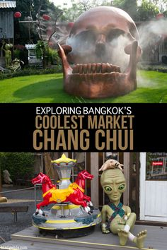 Visit #ChangChui market in #Bangkok, #Thailand to see local art, movies, theatre, shop for some unique goods and eat all sorts of strange foods - like bugs at the restaurant Insects in the Backyard, or custard toast.