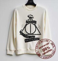 Deathly Hallows Shirt Harry Potter Sweatshirt Sweater Hoodie Shirt – Size XS S M L XL - $29.99