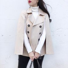 @arabellagolby proves when trench met cape, the results were the ultimate in instant classic | Shop her look with www.LIKEtoKNOW.it | www.liketk.it/2aMfx #liketkit