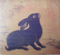 """Chinese Watercolor Paintings of Rabbits 