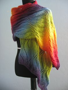 MagicWaves Shawl By Kieran Foley - Purchased Knitted Pattern - (ravelry)