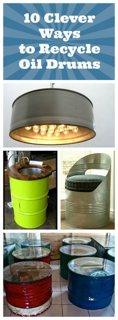 These ideas for recycling used oil drums will inspire you to try sone yourself! Turn something old into something spectacular.