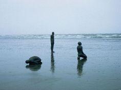 """Land, Sea, Air"" Antony Gormley is a British sculptor Liverpool, Abstract Sculpture, Sculpture Art, Metal Sculptures, Bronze Sculpture, Sculpture Ideas, Antony Gormley Sculptures, Instalation Art, Grandeur Nature"