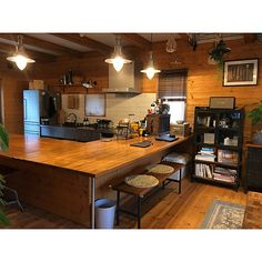 Kitchen/無印良品/ダイニング/カフェ風/ジャーナルスタンダードファニチャー/マイホーム...などのインテリア実例 - 2017-08-20 14:07:48 | RoomClip (ルームクリップ) Home Interior Design, Interior Decorating, Kitchen Decor, Kitchen Design, Acme Furniture, Room Planning, Home Furnishings, Kitchen Remodel, House Plans