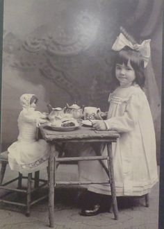 Tea set, doll girl                                                                                                                                                                                 More