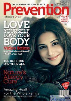 Vidya Balan Prevention Magazine Photoshoot India 2015