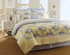 Amazon.com - Laura Ashley, Caroline Collection, Bed in a Bag, Full - Cotton Bed In A Bag