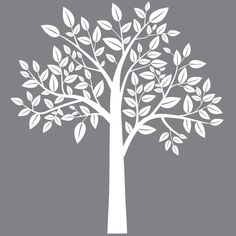 Nursery wall decal - white Tree  -  Wall Decal by fancywalls on Etsy https://www.etsy.com/listing/130825824/nursery-wall-decal-white-tree-wall-decal