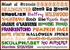 My Computer is My Canvas: My 20 Most Favorite Halloween Fonts!