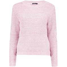 Boohoo Harper Heart Elbow Patch Jumper | Boohoo ($30) ❤ liked on Polyvore featuring tops, sweaters, crewneck sweaters, crochet jumper, slouch sweater, crew sweater and pink jumper
