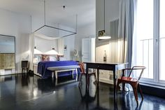 Categorki 3b at the Gorki Apartments in Berlin, designed by Sandra Pauquet. www.gorkiapartments.com #interior #design #architecture #travel #hotel #berlin #apartments