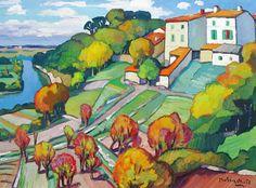 Gaston BALANDE,1880 - 1971 - Les Arciveaux
