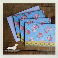 Sunshine Scallop Note Cards Set of 6  by PickleDogDesign on Etsy, $10.00