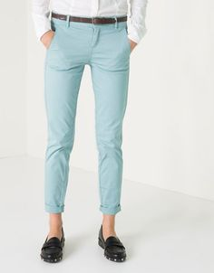 BSK belted satin trousers