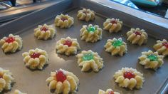 A Christmas cookie plate would not be complete without these classic spritz cookies. A traditional Christmas butter cookie made through the generations.