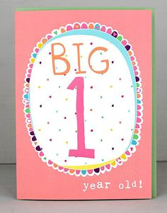 NEW 1st Birthday Cards For Girls by Molly Mae. I love this new range. You can also find the boys age range at Card Crush.