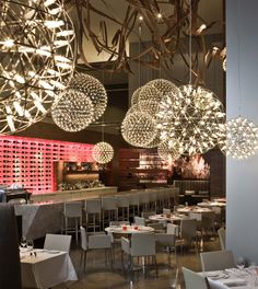 stunning lighting by MOOOI ... loving this celestial grouping..