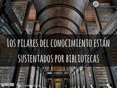 Los pilares del conocimiento están sustentados por bibliotecas
