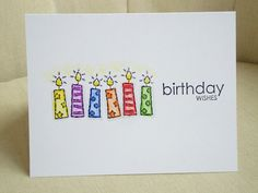 Cute candle birthday card! So eager to make this one <3 =)