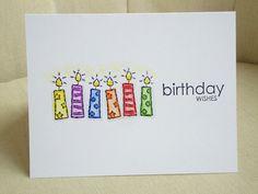 Cute candle birthday card