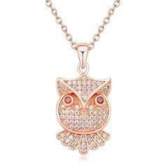 TAOTAOHAS Damen Anhänger Halskette mit Crystallized Swarovski Elements Kristall Clear 18K 750 Rotgold, Owl City TAOTAOHAS-Crystal http://www.amazon.de/dp/B00O1GV3J6/ref=cm_sw_r_pi_dp_cs3Xub0265Z7K