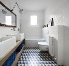 subway tiles in bathrooms | azulejos estilo hidraulico
