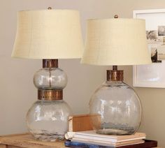 Love the lamp, not the price tag...$249 There's gotta be an alternative though. Brilliant idea to put old book pages in there too! It's a love-hate relationship I have with Pottery Barn...sigh...
