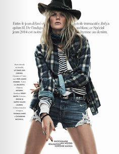 blanc/bleu: anne vyalitsyna by jan welters for elle france 7th march 2014