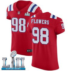 a19371af4 Nike Patriots  98 Trey Flowers Red Alternate Super Bowl LII Men s Stitched  NFL Vapor Untouchable · Patriots 80Jersey PatriotsNew England ...