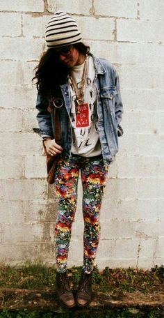 Would never try to pull this off, but I love those psychedelic pants!