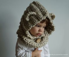 The Lee Lee Bear Hood   Soft Cozy & just too cute by TheLeeLeeShop