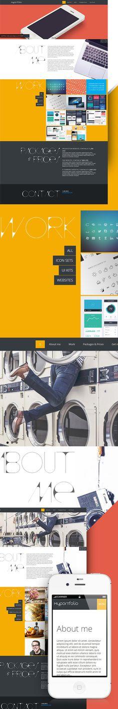 Portfolio site template for designers & photographers