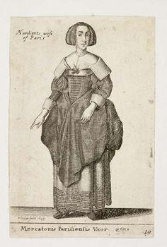 Merchant's Wife of Paris by Hollar, circa 1643