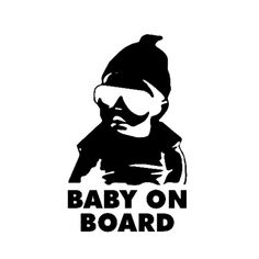Baby On Board Vehicle Wall Vinyl Decal Sticker By JPVinylDesign - Black vinyl decal stickers